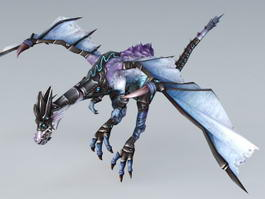 Flying Dragon Rig 3d model preview