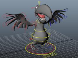 Cartoon Bird Rig 3d model preview
