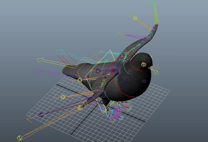 Pigeon Rig 3d rendering