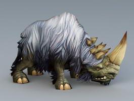White Woolly Rhinoceros 3d model preview
