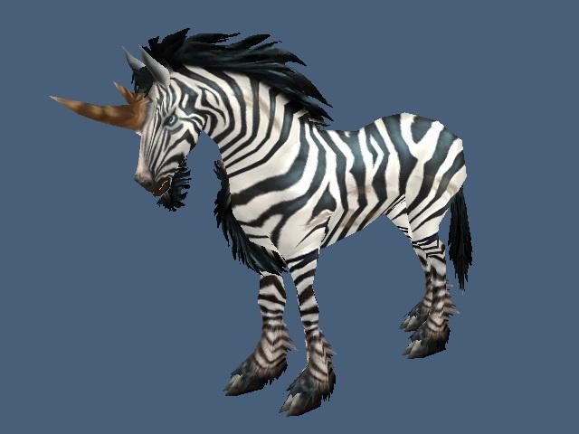 Zebra Unicorn 3d rendering