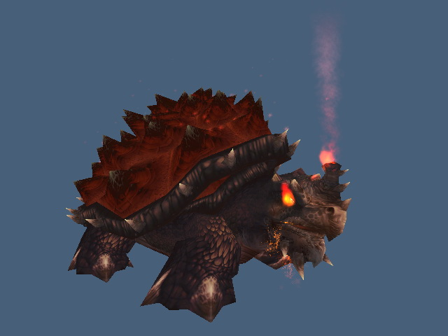Ancient Fire Turtle 3d rendering