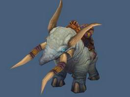 Draenei Elephant Mount 3d model preview