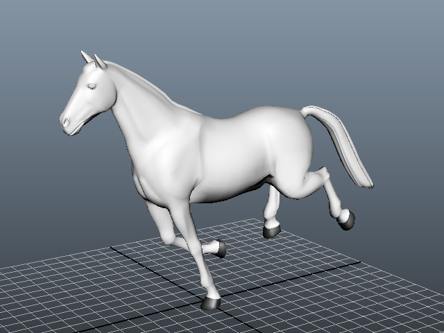 Animated Running Horse 3d Model Maya Files Free Download