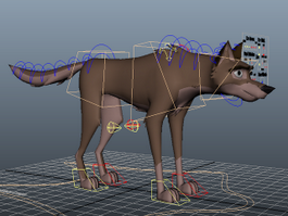 Wolf Dog Rig 3d preview