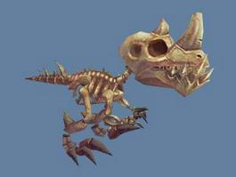 Velociraptor Raptor Dinosaur Skeleton 3d preview