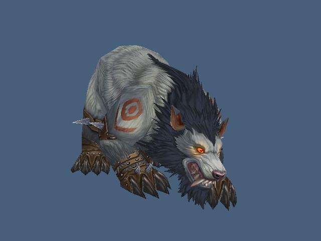 Worgen Druid Bear Form 3d rendering
