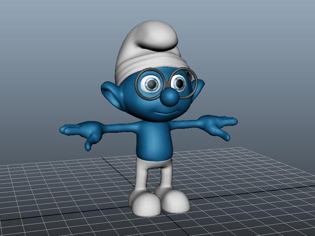 Smurfs Character 3d rendering