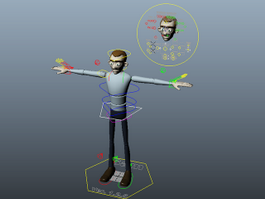 Sam Rigged 3d model preview