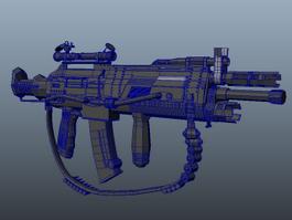 Heavy Combat Rifle 3d model preview