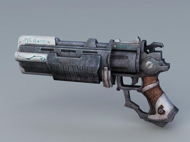 Sci Fi Pistol 3d rendering