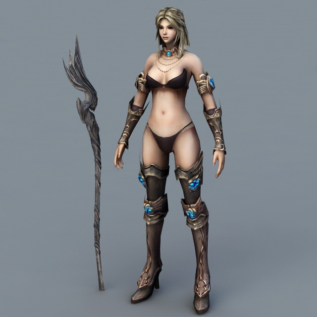 Beautiful Sorceress Art 3d rendering