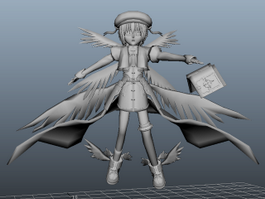 Anime Angel Girl 3d preview