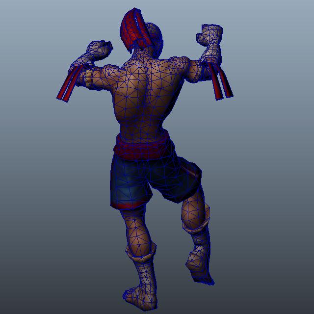 Muay Thai Warrior 3d rendering