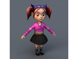 Cute Little Girl 3d preview