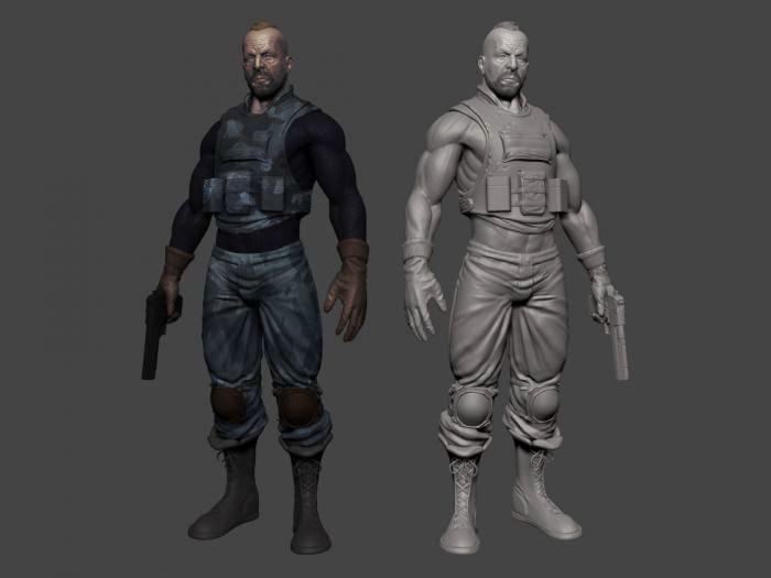 Special Ops Soldier 3d rendering
