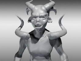 Evil Demonic Orc 3d preview