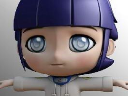 Kawaii Chibi Girl 3d preview