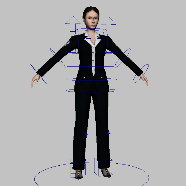 Female Special Agent 3d rendering