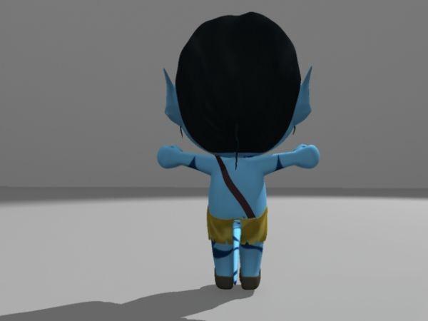Avatar Film Man Cartoon 3d rendering