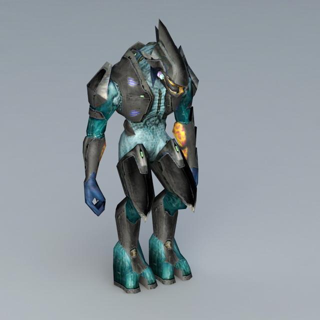 Monster Warrior Rig 3d rendering