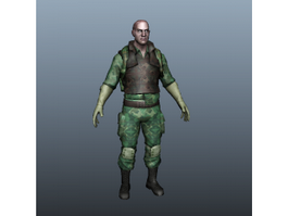 Special Forces Soldier in Uniform 3d preview