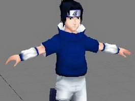 Anime Character Sasuke 3d model preview
