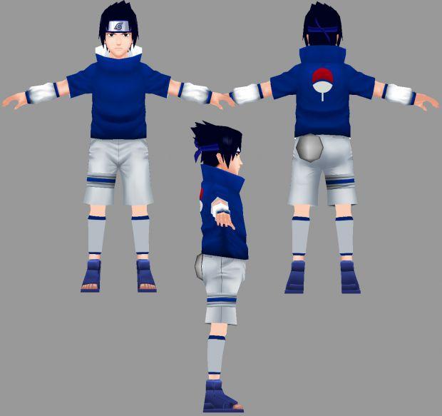Anime Character Sasuke 3d Model 3ds Max,Object Files Free