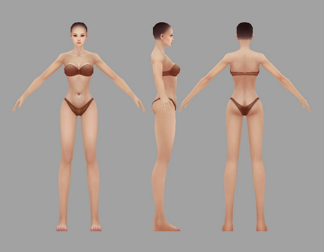 Female Body Bikini 3d rendering