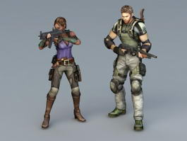 Resident Evil Character 3d preview