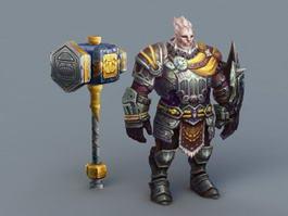 Asmodian Warrior 3d preview