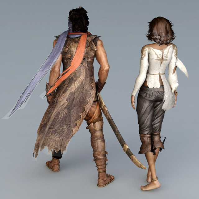 Prince of Persia Character 3d rendering