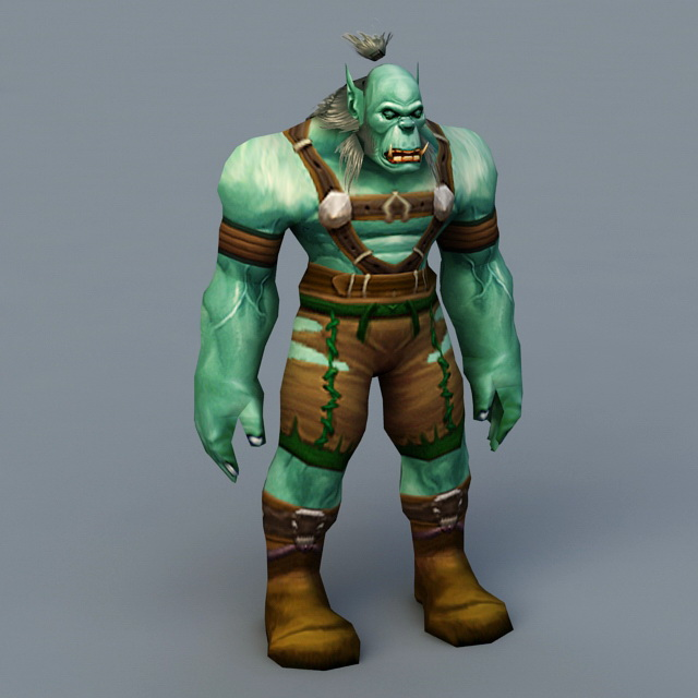 Warcraft Orc 3d Model 3ds Max Files Free Download