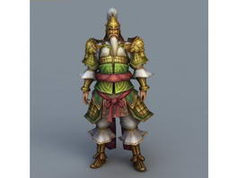 Ancient Chinese Army Officer Rig 3d model preview