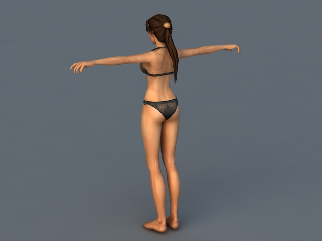 Lara Croft Bikini 3d rendering