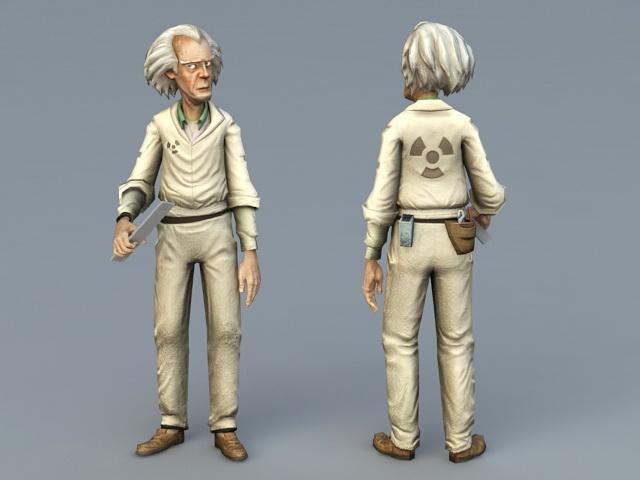 Old Man Doctor 3d rendering