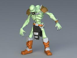 Zombie Toy Figure 3d preview