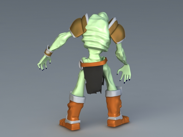 Zombie Toy Figure 3d rendering