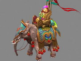 Persian Empire War Elephant 3d preview
