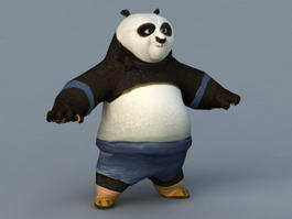Fu Kung Panda PO 3d model preview