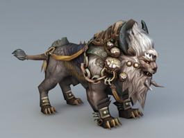 Primitive Lion Mount 3d preview