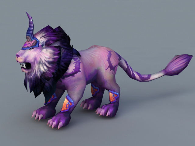Anime Lion Animal 3d rendering
