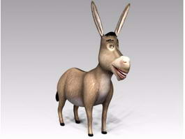 Donkey Cartoon Character 3d preview