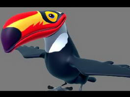 Cartoon Toucan Character 3d preview