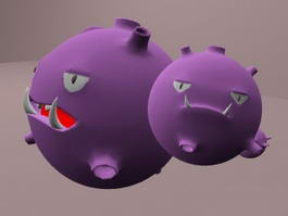 Pokemon Weezing 3d model preview