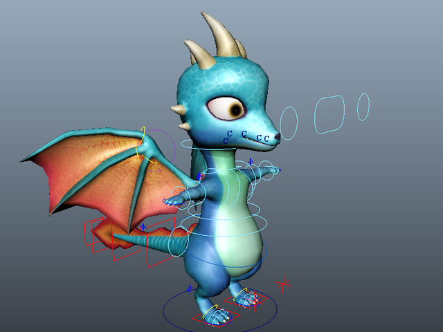 Cute Baby Dragon 3d model preview