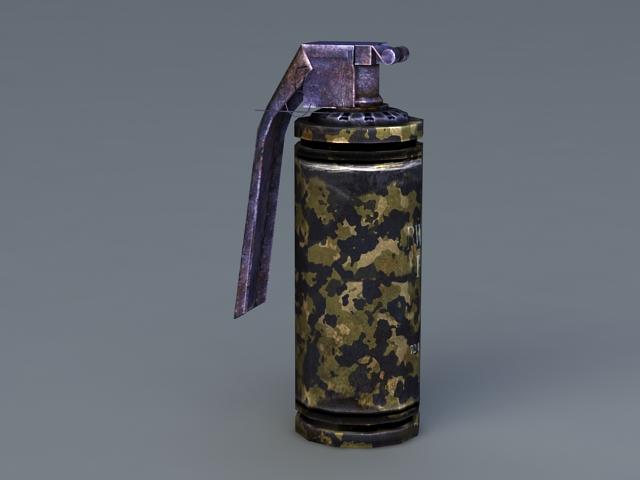Flash Grenade 3d rendering