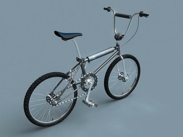 Hyper BMX Bicycle 3d rendering
