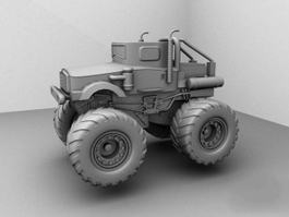 Tractor Vehicle 3d preview