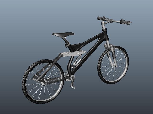 BMX Freestyle Bike 3d rendering